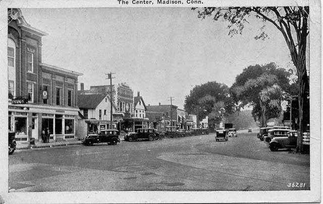 Vintage postcard of downtown Madison