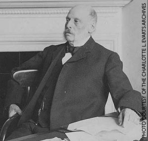 Seating photograph of founding member of the Madison Historical Society, George Wilcox