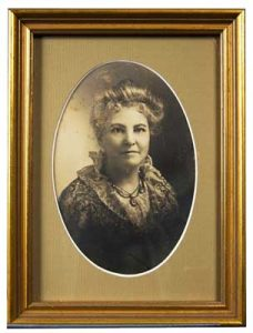 Formal photo portrait of founding member and first MHS president, Elizabeth Todd Nash