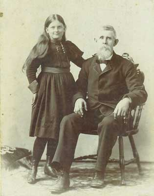 Grace pictured with her grandfather, Charles Miner.