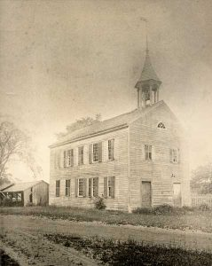 Vintage photograph of Lee's Academy, 1886