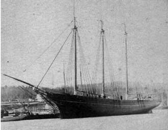 The Schooner C. C. Colgate, outfitted in 1867 at the Albert Thomas shipyard in West Haven ,CT.