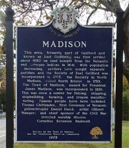Town of Madison, Connecticut historical marker