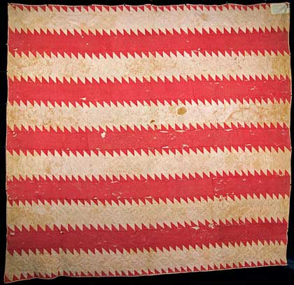 Quilt by Elizabeth Northrop Pruden after she was 90 years old in 1862.